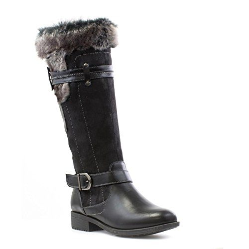 Cushion-Walk-Womens-Black-Casual-Knee-Boot-0