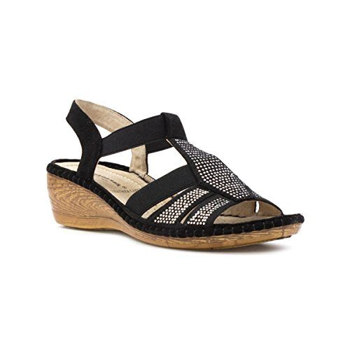 Cushion-Walk-Womens-Black-Diamante-Comfort-Sandal-0