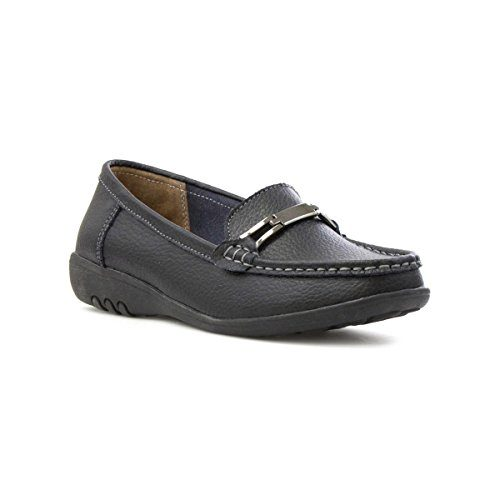 Cushion-Walk-Womens-Black-Leather-Loafer-Shoe-0