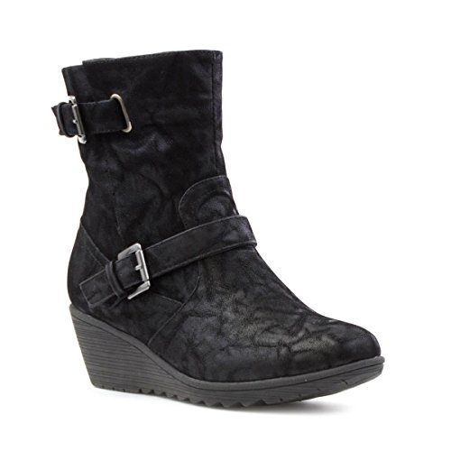 Cushion-Walk-Womens-Black-Wedge-Boot-0
