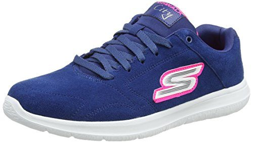 Skechers-Go-Walk-City-Challenger-Womens-Low-Top-Sneakers-0